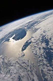 View of the Gaspe Peninsula and Anticosti Island by Stocktrek Images