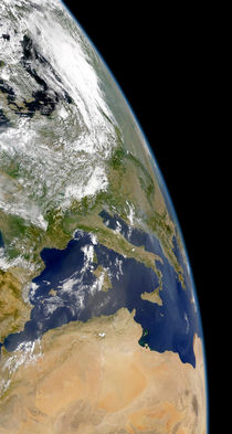 View of the western Mediterranean. by Stocktrek Images