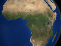 Earth showing landcover over Africa. von Stocktrek Images