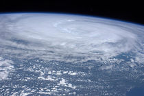 Hurricane Irene off the east coast of the USA. by Stocktrek Images