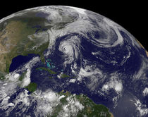 Tropical cyclones in the Atlantic Ocean. von Stocktrek Images