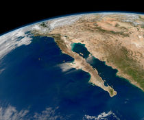 Baja California and the Pacific coast of Mexico. by Stocktrek Images