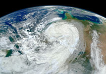 Hurricane Sandy along the East Coast of USA. by Stocktrek Images