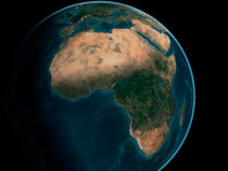 Earth from space above the African continent.  by Stocktrek Images