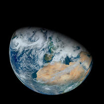 Earth showing North Africa and Europe. von Stocktrek Images