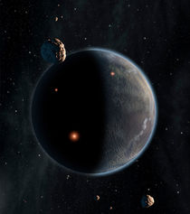 An Earth-like planet rich in carbon and dry. von Stocktrek Images