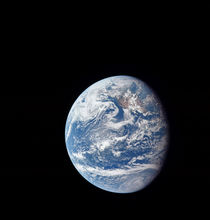 Planet Earth taken by the Apollo 11 crew. von Stocktrek Images