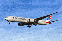 American Airlines Boeing 777 Art von David Pyatt