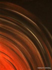 Farbenspiel Energie, rot, schwarz, Liebe Nr. 2 von Edeltraut K.  Schlichting