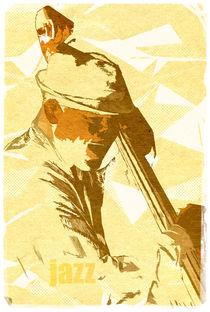 Jazz Contrabassist Poster von cinema4design