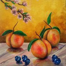 Still life #5 Peaches by Thom Lupari