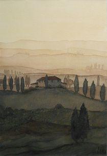 Sonnenaufgang Toscana von lura-art