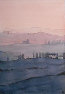 Sonnenuntergang Toscana von lura-art