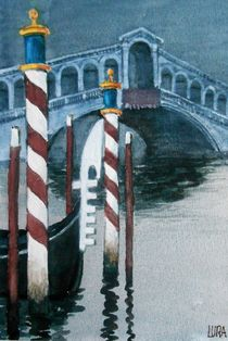 Rialtobrücke Venedig by lura-art