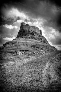 Lindisfarne Castle Approach by Colin Metcalf