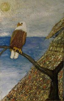 EAGLE ON BRANCH von Fred Skelton