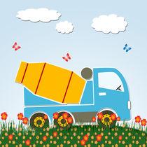 Cement mixer truck by Gaspar Avila