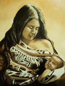 A Native American Mother and child by Gene Davis