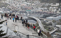 People above Bergen, photographer above people by Sergey Tsvetkov