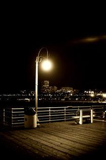 Laterne auf dem Santa Monica Pier  by Bastian  Kienitz