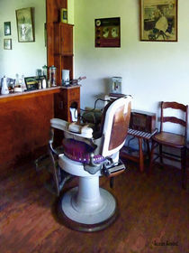 Old-Fashioned Barber Chair by Susan Savad