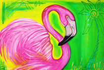 Electric Flamingo von Laura Barbosa