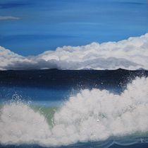 Wolken, Meer + Gischt von Karin Fricke
