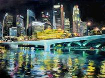 Singapur bei Nacht by Renée König