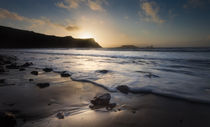 Sunset at Rhossili Bay by Leighton Collins