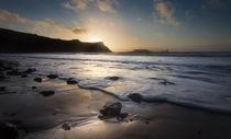 Sunset at Rhossili Bay von Leighton Collins