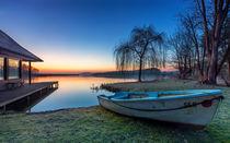 Haus am See mit Boot von Dennis Stracke