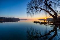 Morgens am Badesteg am See von Dennis Stracke