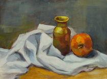 Vase mit Apfel von alfons niex