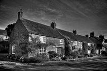 Gillamoor Cottages in mono by Colin Metcalf