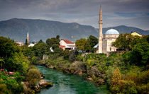 Mosques by The Neretva River by Colin Metcalf