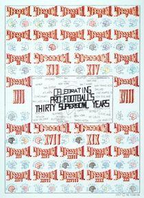 Superbowl Poster von robert rob