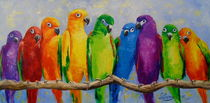 A flock of parrots by Olha Darchuk