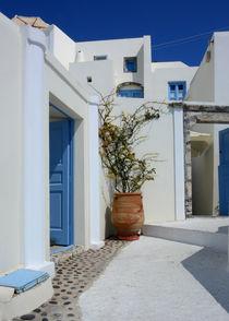 Santorini Courtyard,Greece. by Philip Shone