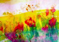 flower garden abstract von Maria-Anna  Ziehr