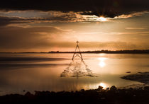 Sunset at The Loughor Estuary by Leighton Collins