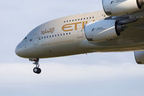 Etihad Airlines Airbus A380 by David Pyatt