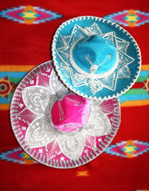 Pink and Blue Mexican Hats by gravityx9