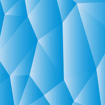 Blue white polygonal by Andrey Lipinskiy