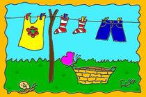 Wäsche auf der Leine von lela