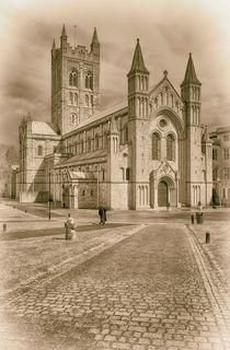 Buckfast Abbey  toned monochrome von John Boud