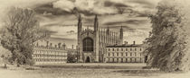 KIng's College Cambridge from the Backs toned von John Boud