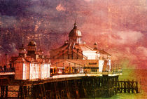 Eastbourne Pier Textured  by John Boud