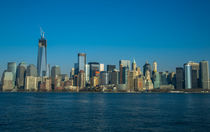 Manhattan view from Hudson by Gaukhar Yerk