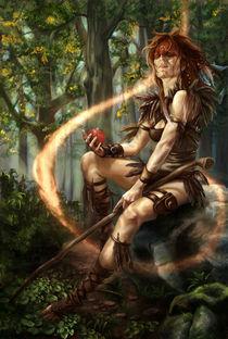Fox shaman by Zsuzsanna Tasi