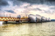 The Thames Barrier London by David Pyatt